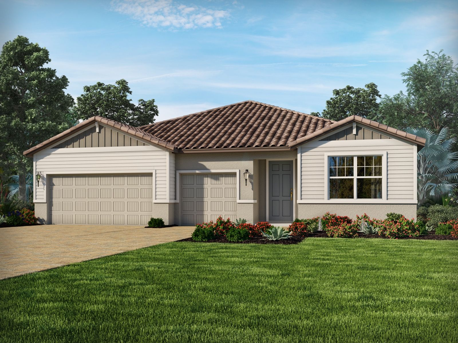 Exterior featured in the Onyx By Meritage Homes in Sarasota-Bradenton, FL