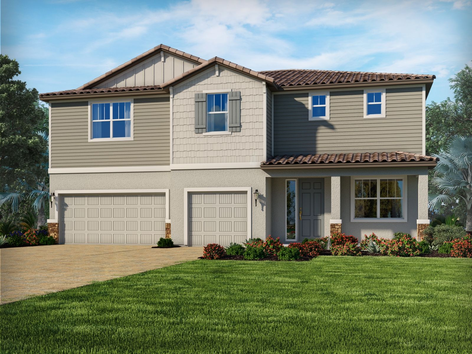 Exterior featured in the Topaz By Meritage Homes in Sarasota-Bradenton, FL