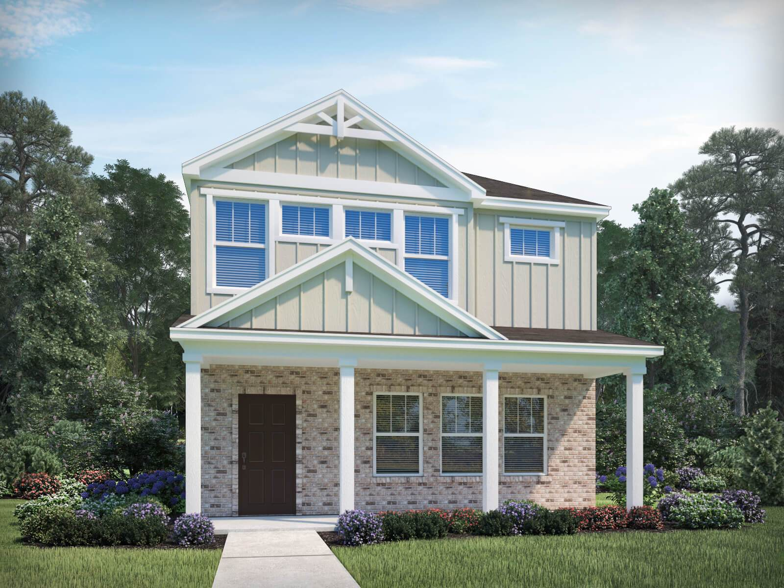 Exterior featured in the Calhoun By Meritage Homes in Raleigh-Durham-Chapel Hill, NC