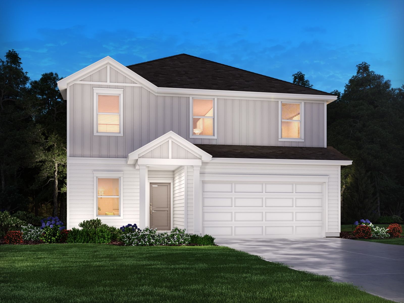 Exterior featured in the Rockwell By Meritage Homes in Greenville-Spartanburg, SC