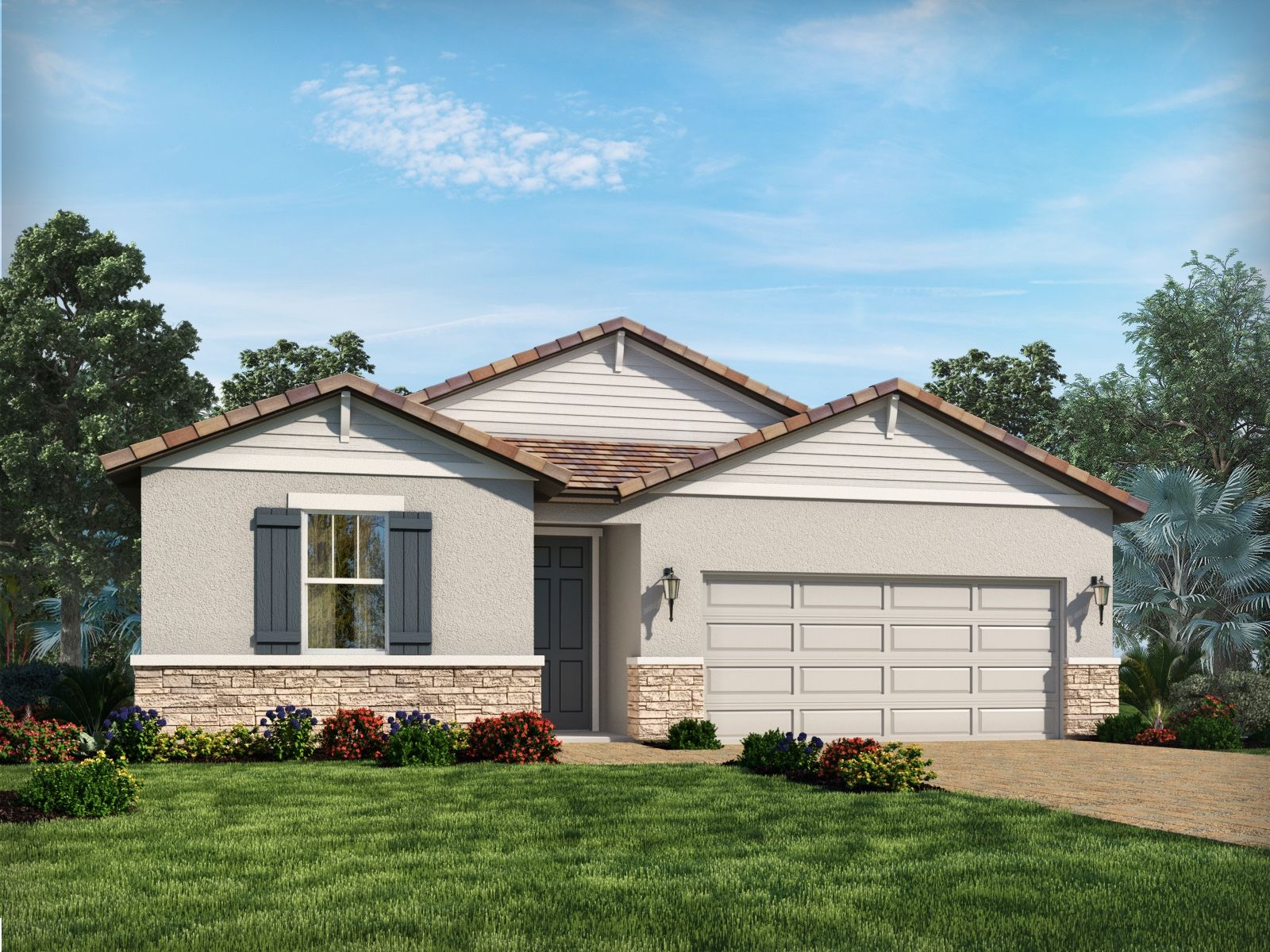 Exterior featured in the Bergamo By Meritage Homes in Sarasota-Bradenton, FL