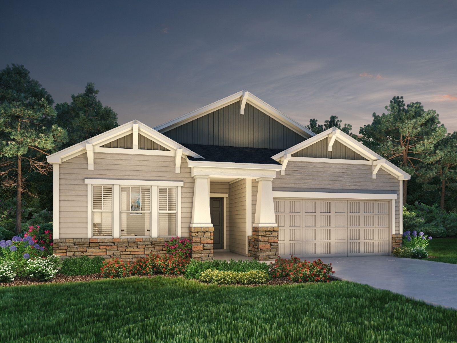 Exterior featured in the Grayson By Meritage Homes in Greenville-Spartanburg, SC