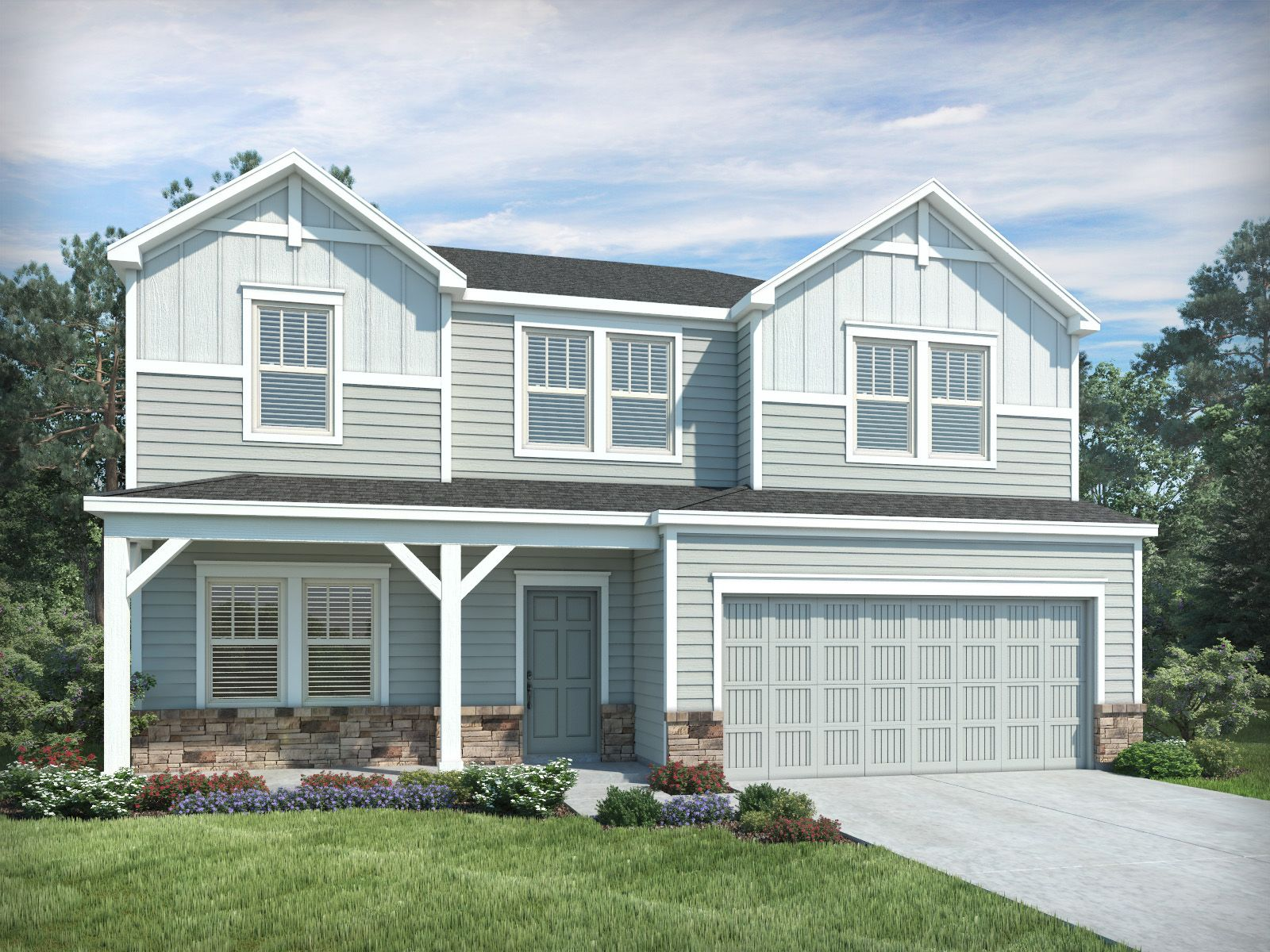 Exterior featured in the Brooklyn By Meritage Homes in Greenville-Spartanburg, SC