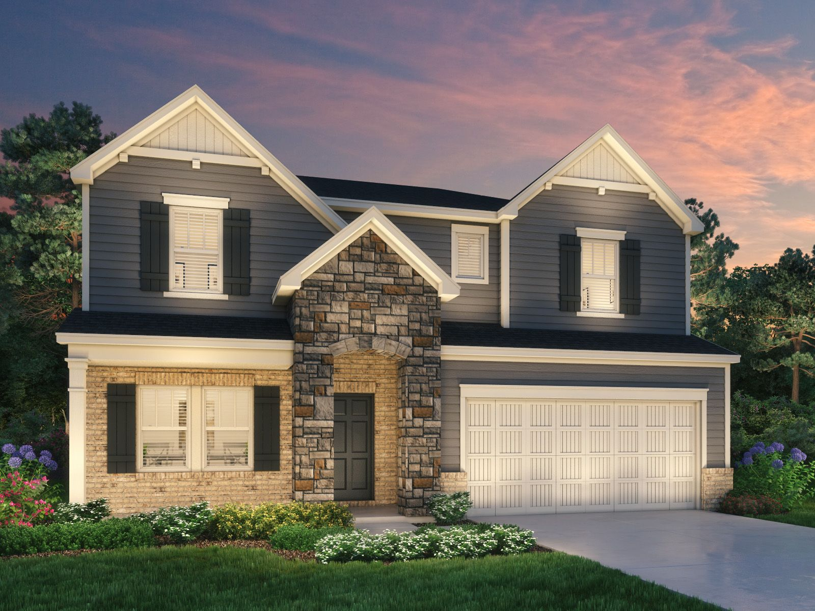 Exterior featured in the Jackson By Meritage Homes in Greenville-Spartanburg, SC