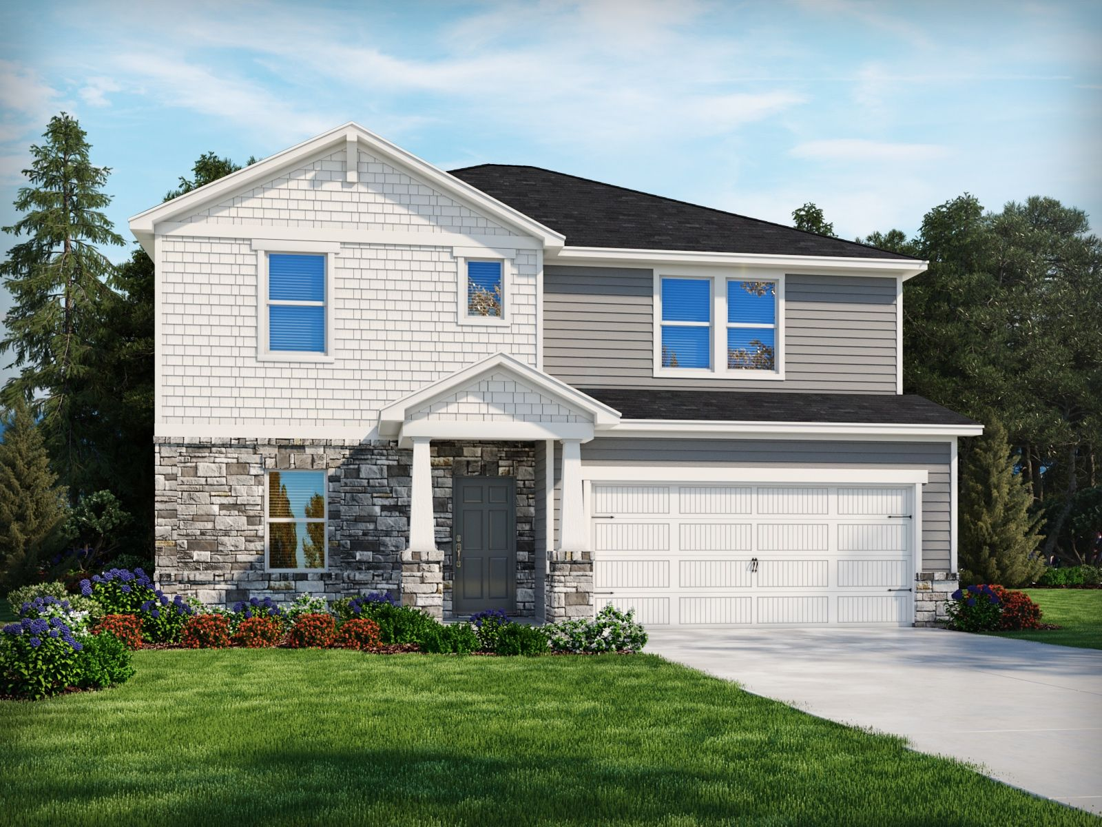 Exterior featured in the Sherwood By Meritage Homes in Charlotte, NC