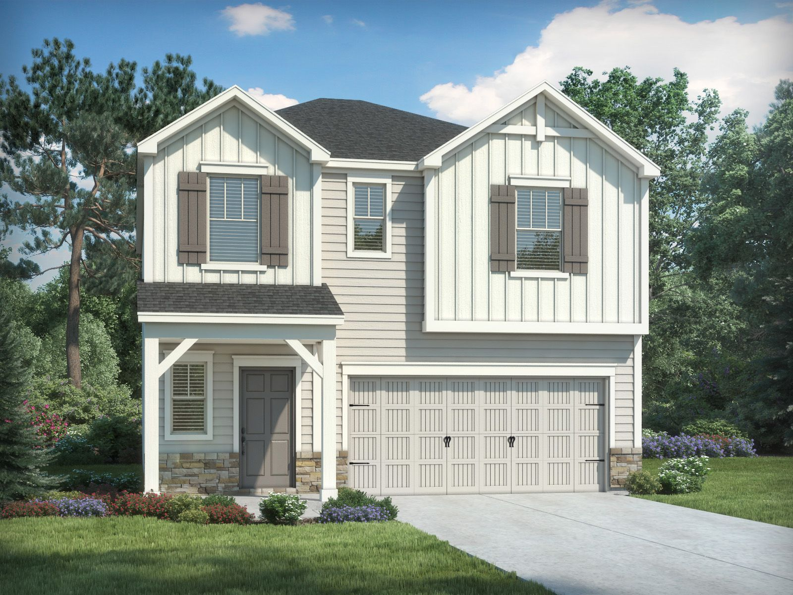 Exterior featured in the Carson By Meritage Homes in Charlotte, NC