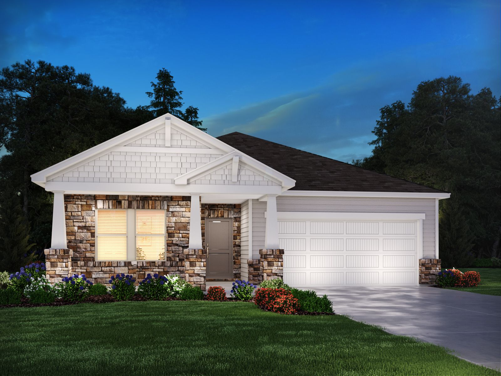 Exterior featured in the Newport By Meritage Homes in Nashville, TN