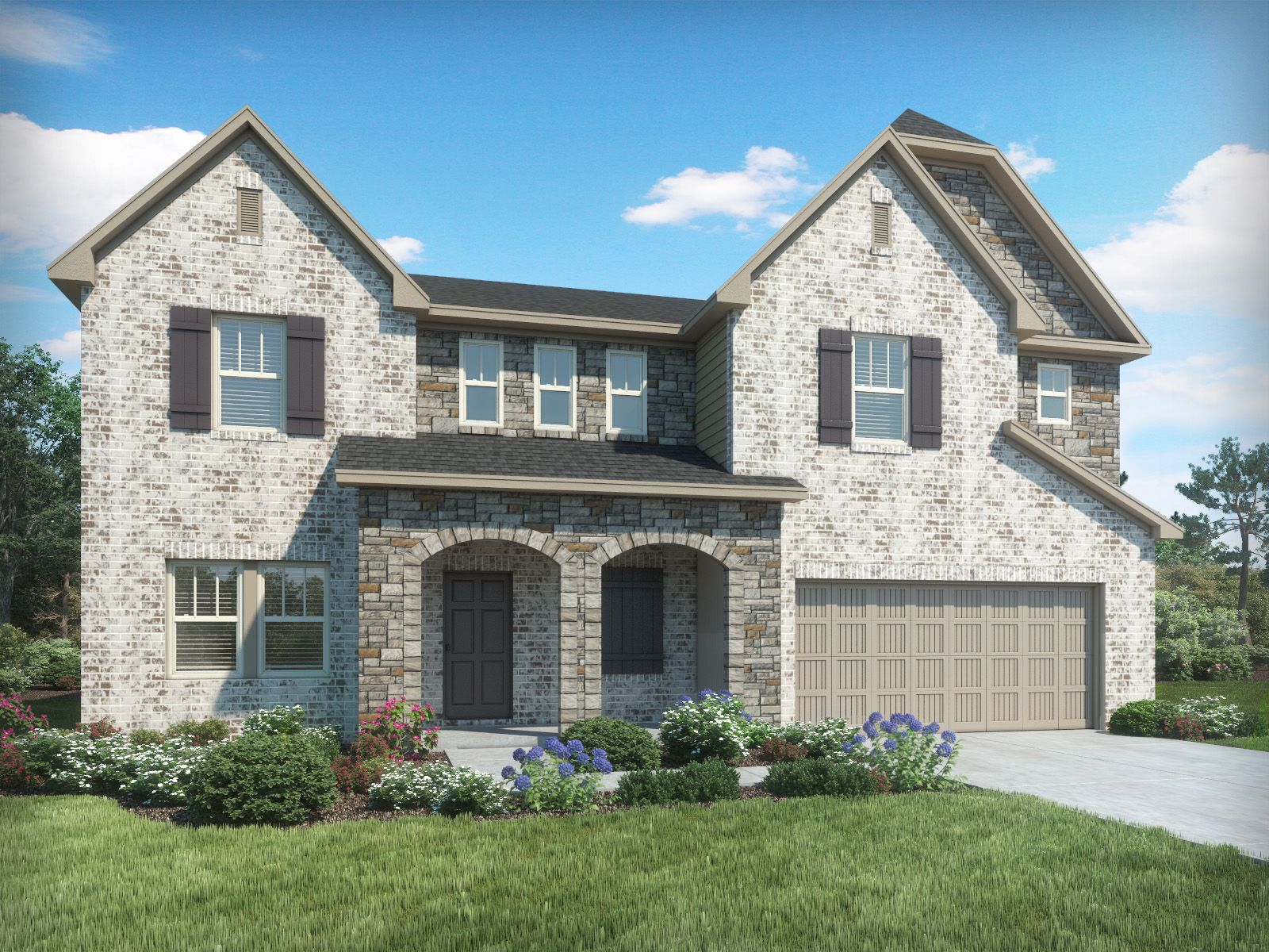 Exterior featured in the Bentley II By Meritage Homes in Greenville-Spartanburg, SC