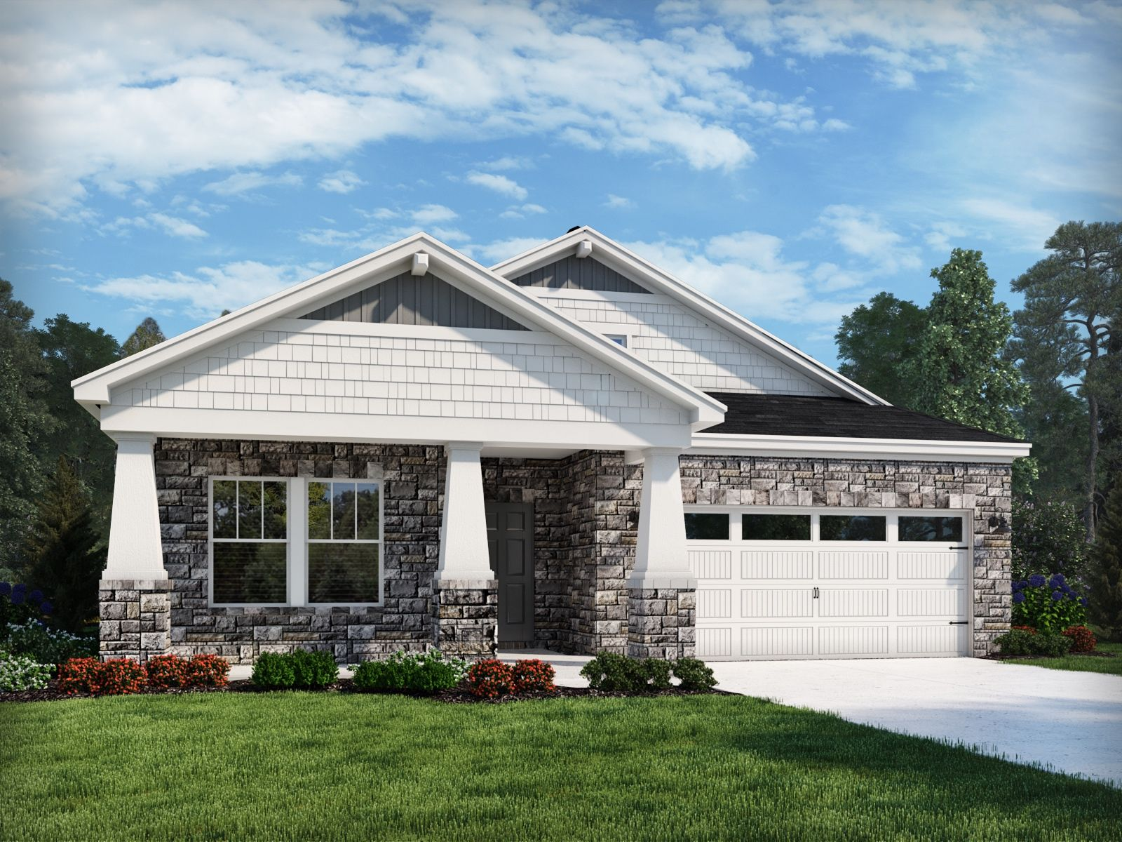 Exterior featured in the Berkshire By Meritage Homes in Charlotte, NC