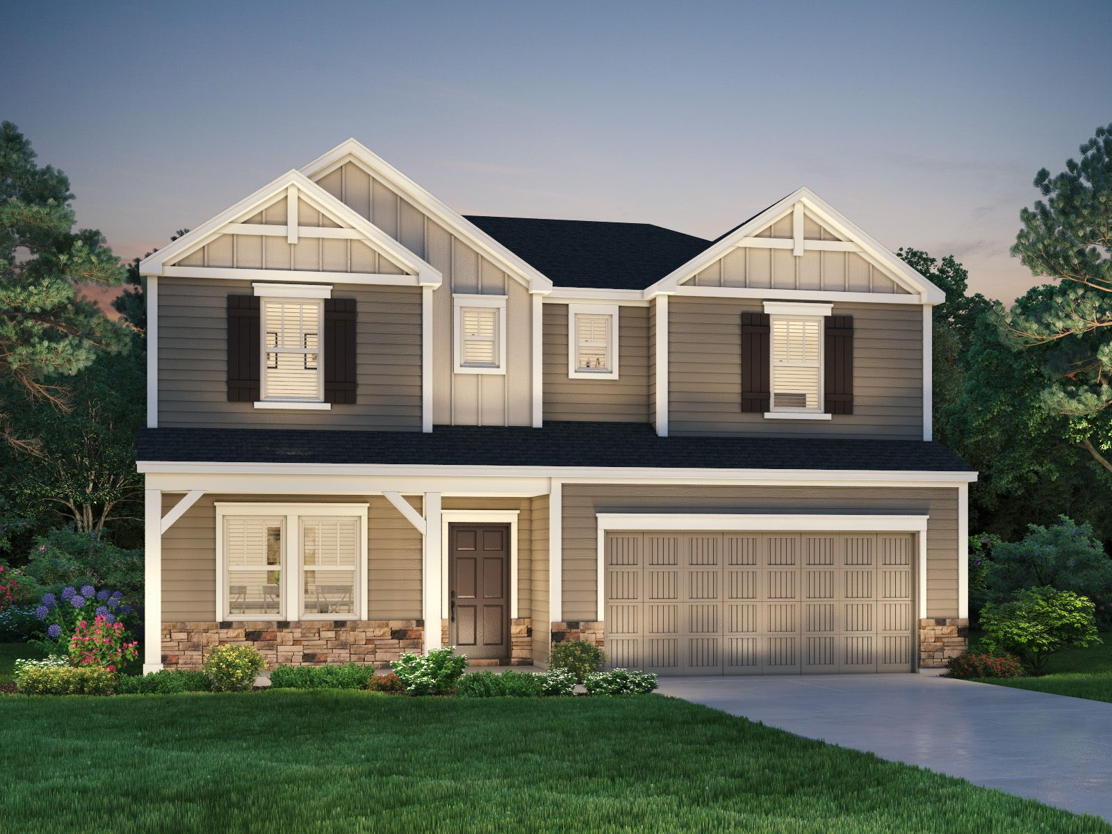 Exterior featured in the Savannah By Meritage Homes in Greenville-Spartanburg, SC