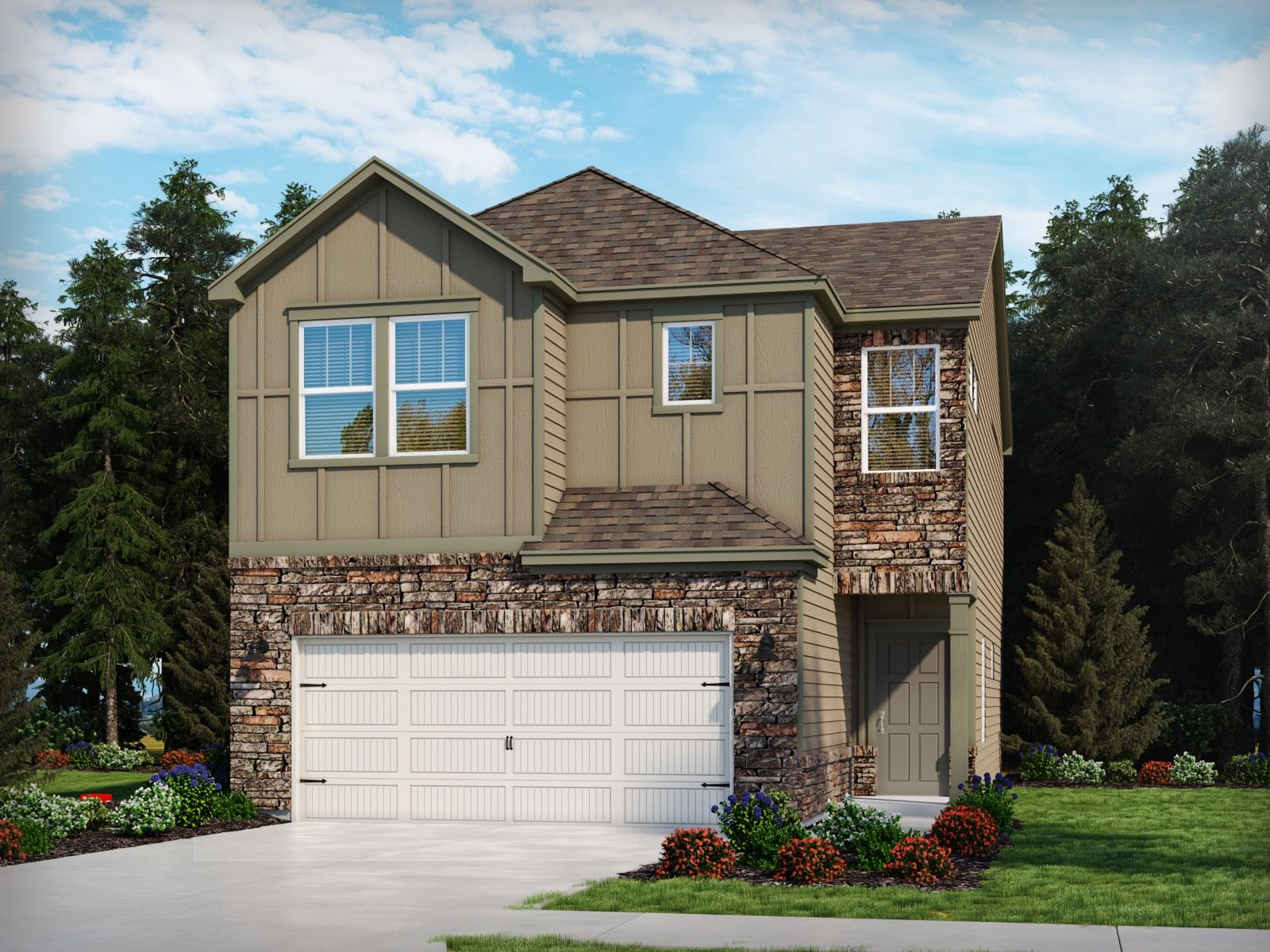 Exterior featured in the Belmont By Meritage Homes in Charlotte, SC