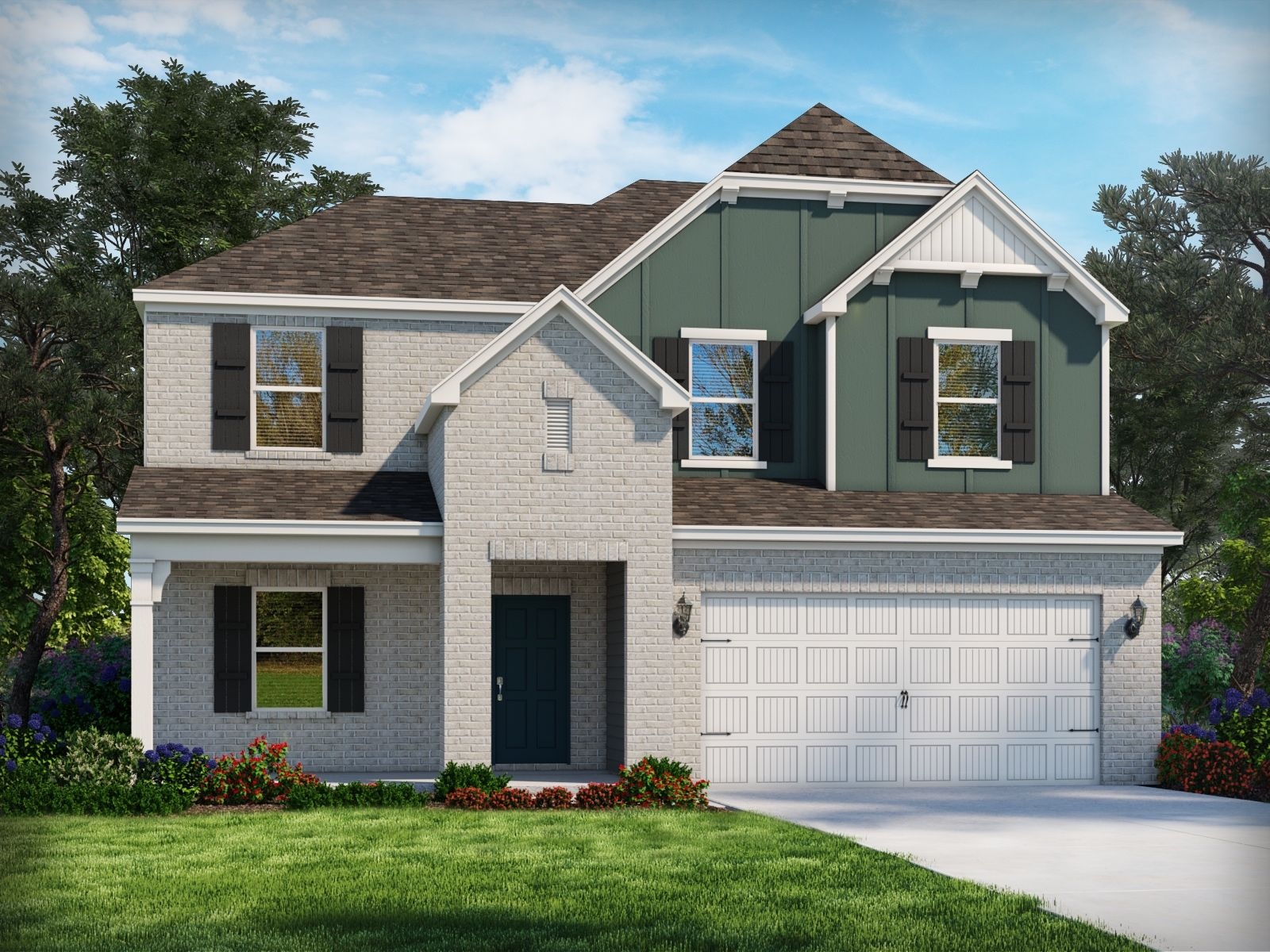 Exterior featured in the Salem By Meritage Homes in Raleigh-Durham-Chapel Hill, NC