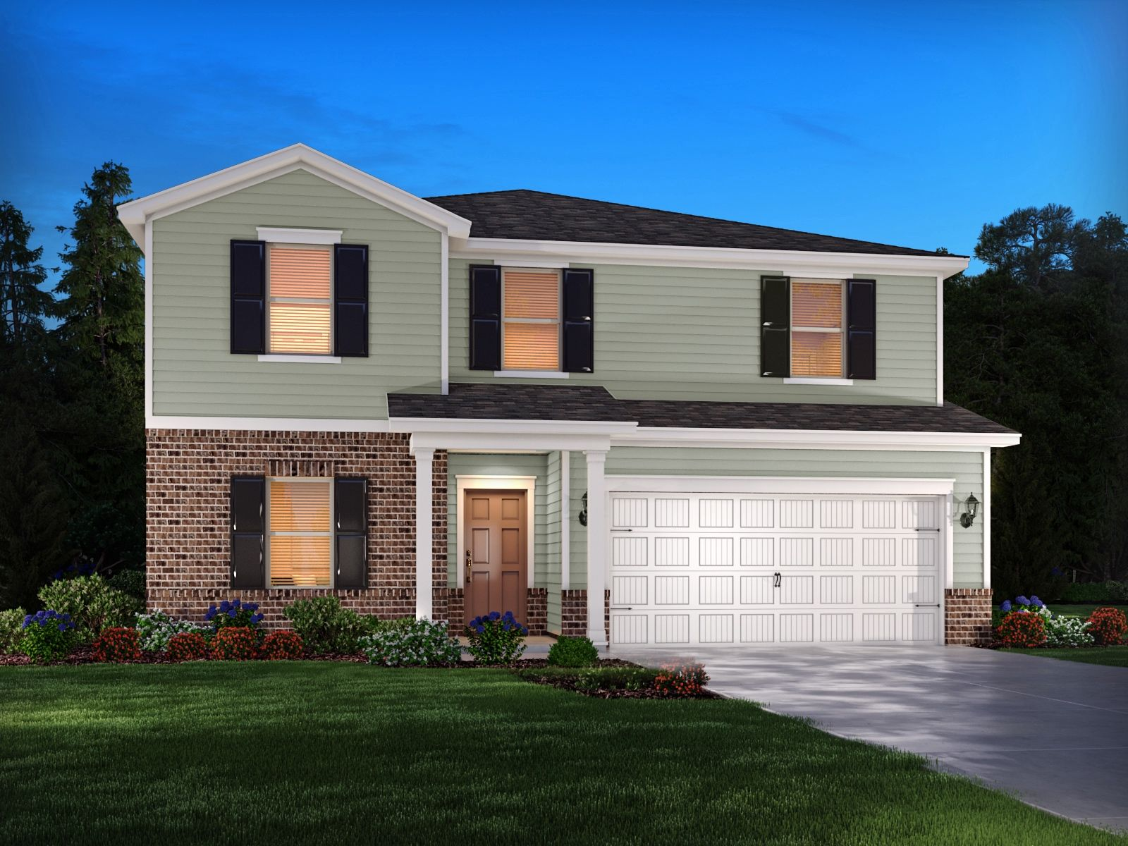 Exterior featured in the Chatham By Meritage Homes in Raleigh-Durham-Chapel Hill, NC