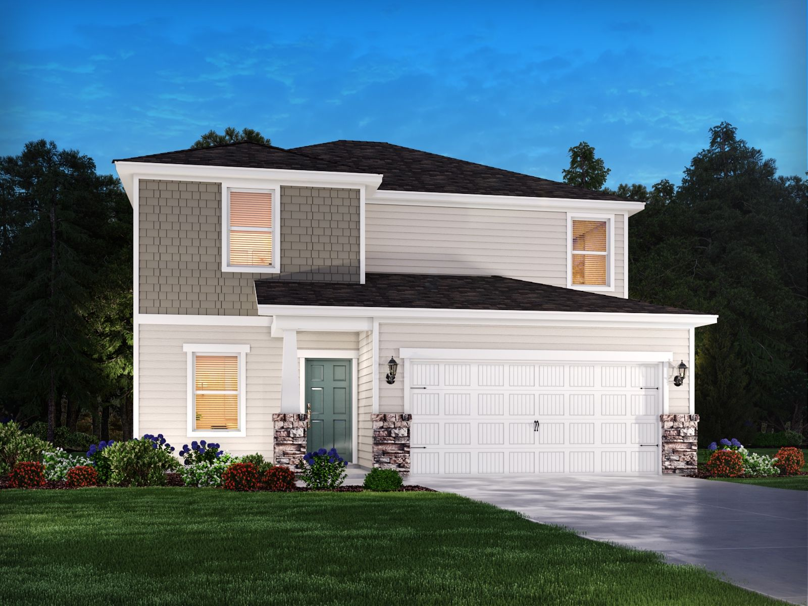 Exterior featured in the Alexander By Meritage Homes in Raleigh-Durham-Chapel Hill, NC
