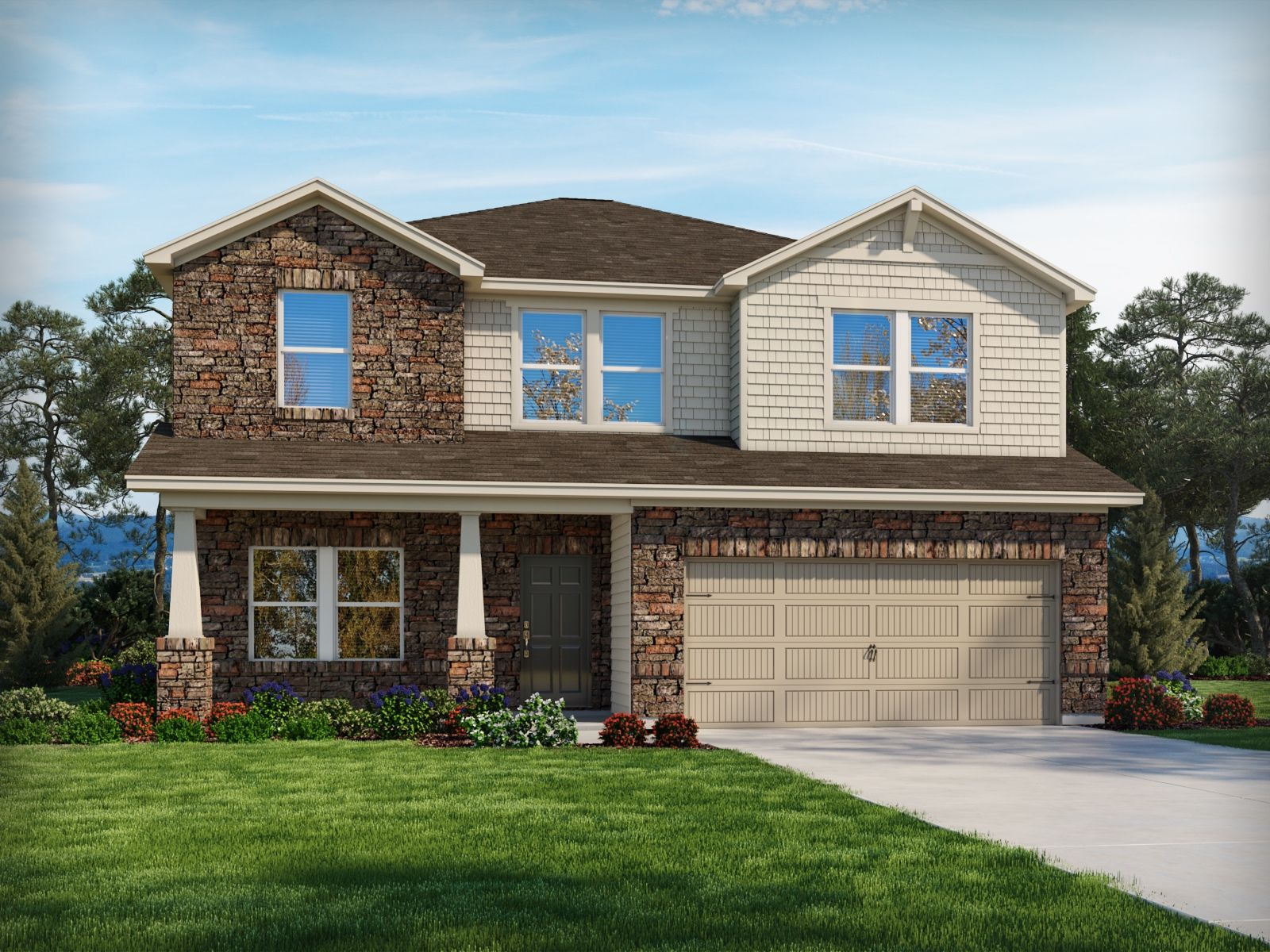 Exterior featured in the Brentwood By Meritage Homes in Charlotte, NC