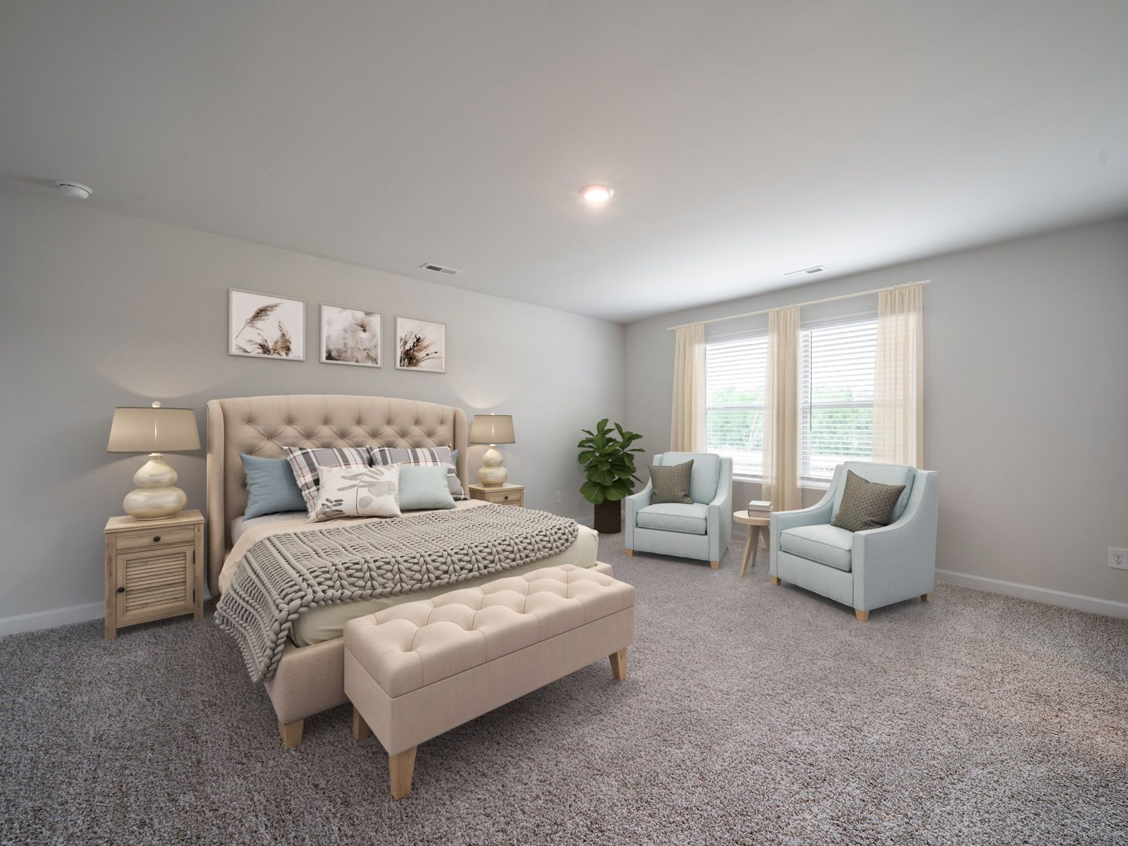 Bedroom featured in the Brentwood By Meritage Homes in Charlotte, NC