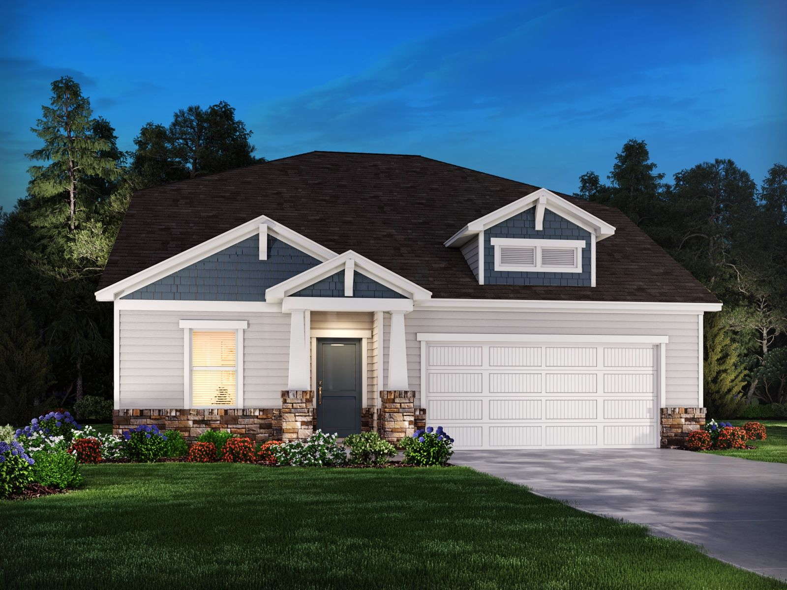 Exterior featured in the Manchester By Meritage Homes in Atlanta, GA