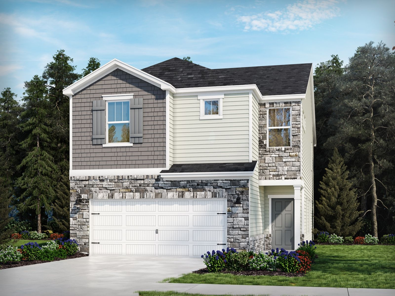 Exterior featured in the Clarkston By Meritage Homes in Charlotte, SC