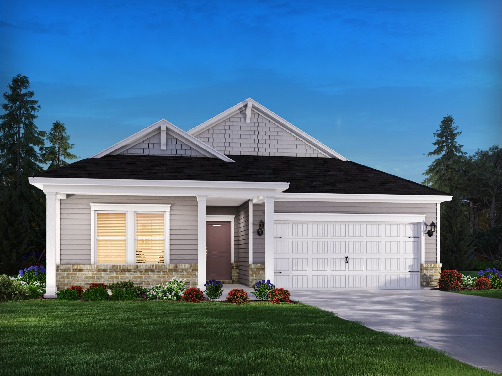 Exterior featured in the Buchanan By Meritage Homes in Greensboro-Winston-Salem-High Point, NC
