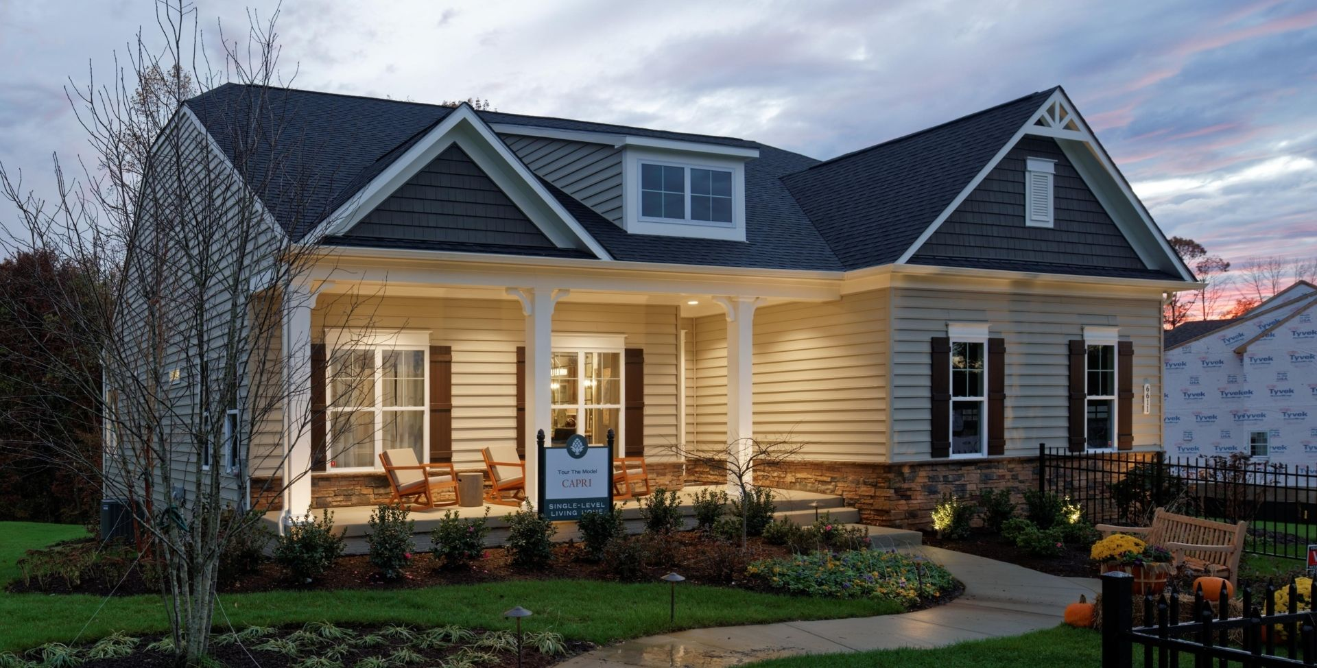 Exterior featured in the Capri By Mid-Atlantic Builders in Washington, MD