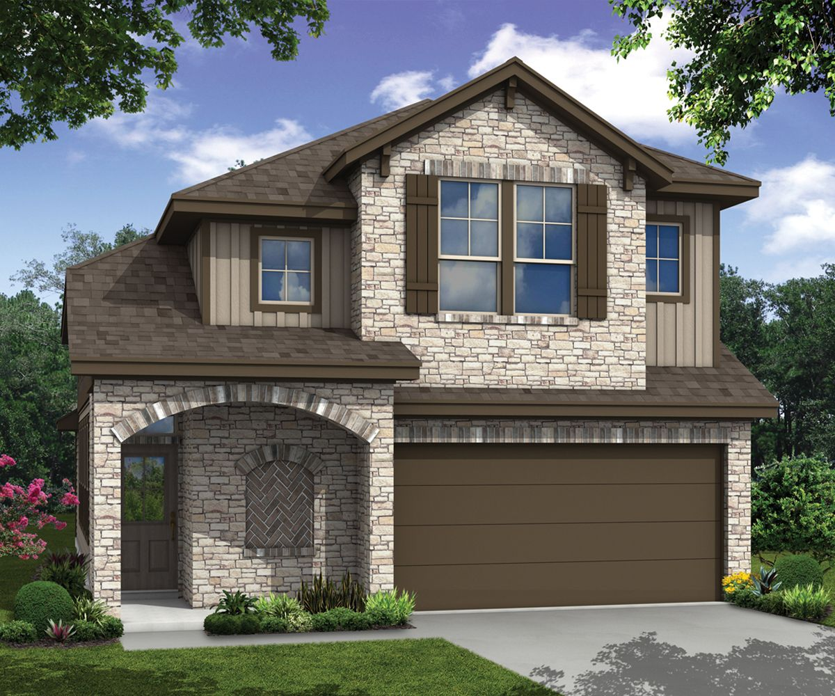 Exterior featured in the Guadalupe By Milestone Community Builders  in Austin, TX