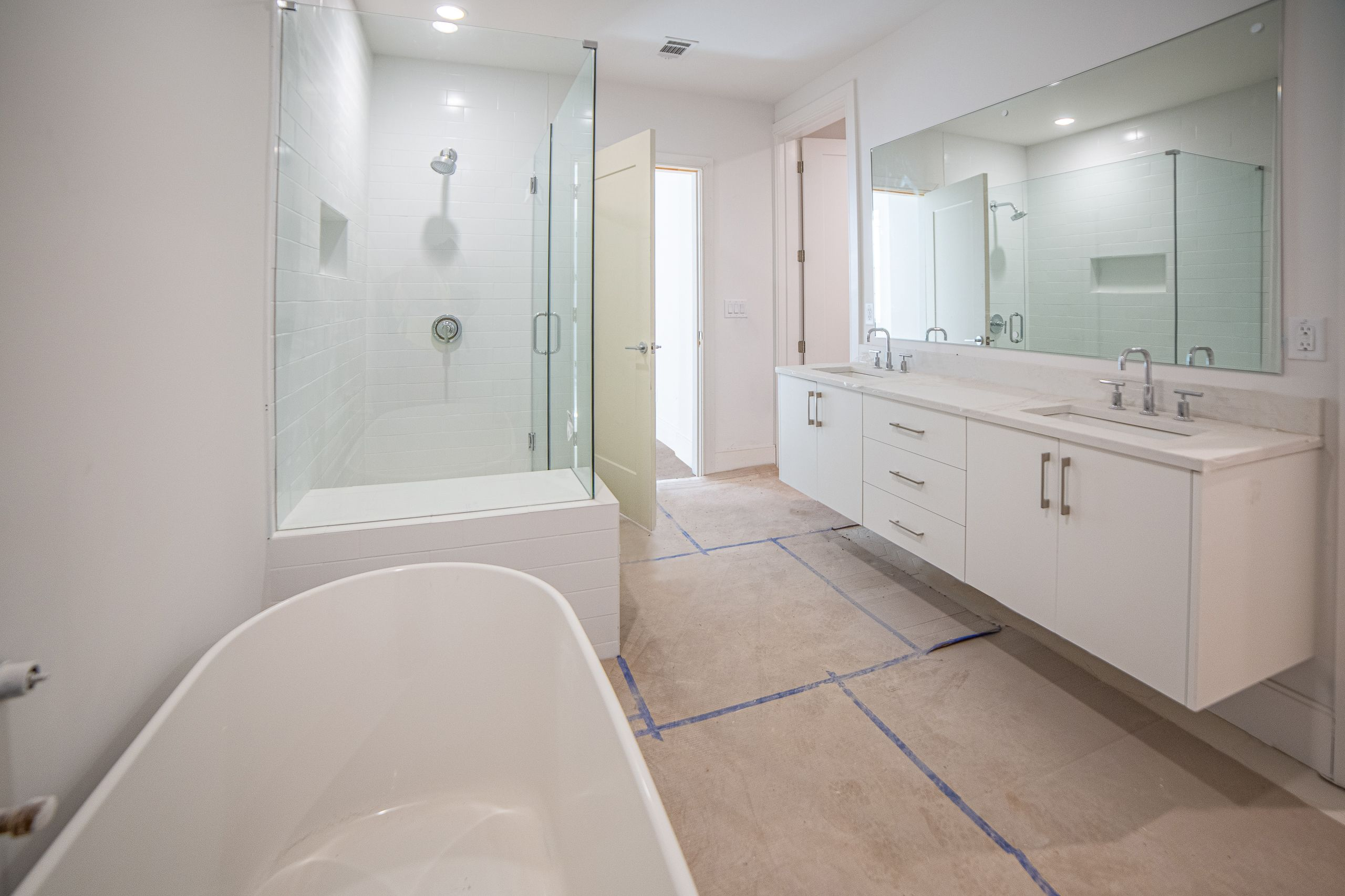 Bathroom featured in the Olmsted Condo By Minerva Homes in Atlanta, GA