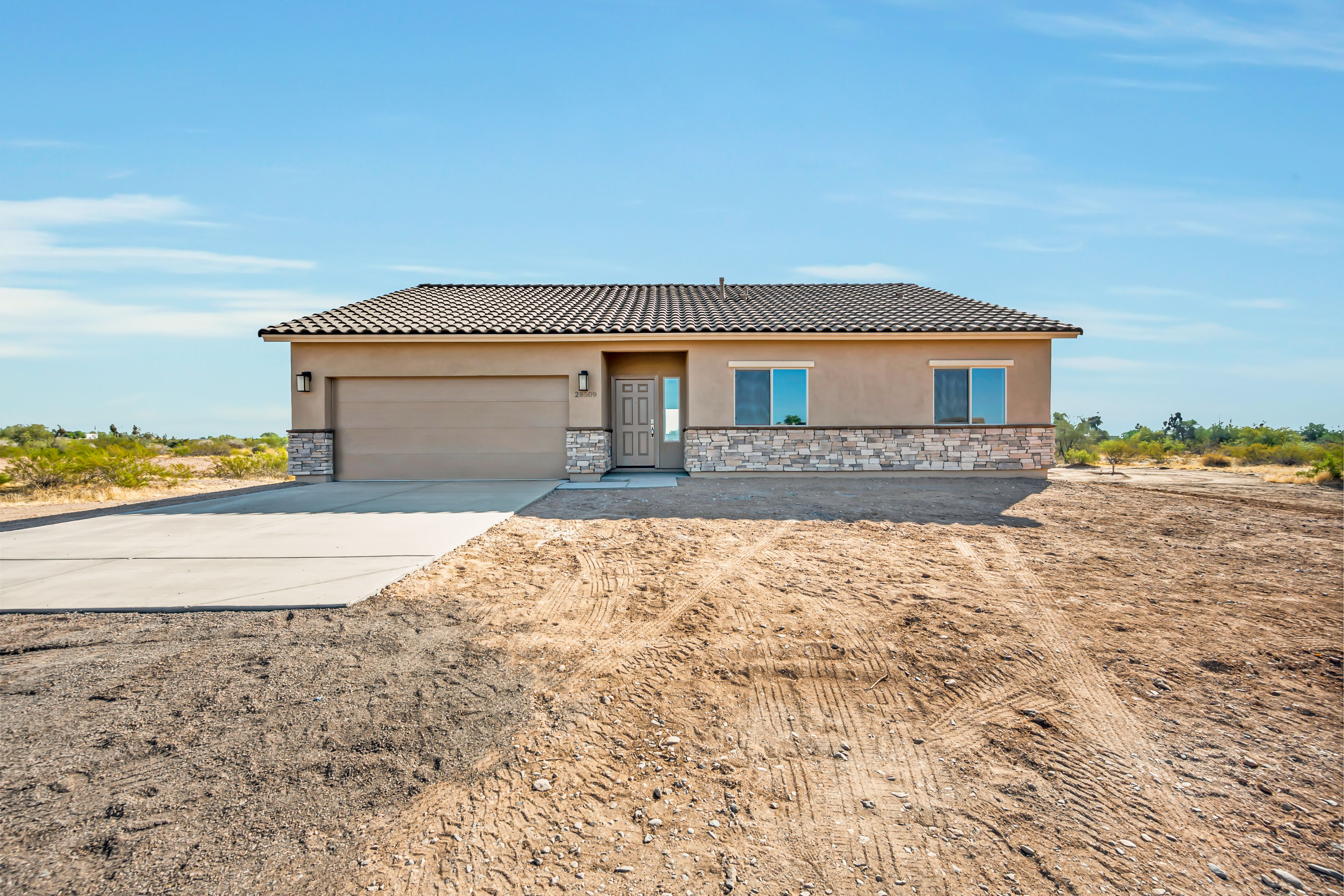 Exterior featured in The Cholla Build on Your Lot By Morgan Taylor Homes in Phoenix-Mesa, AZ