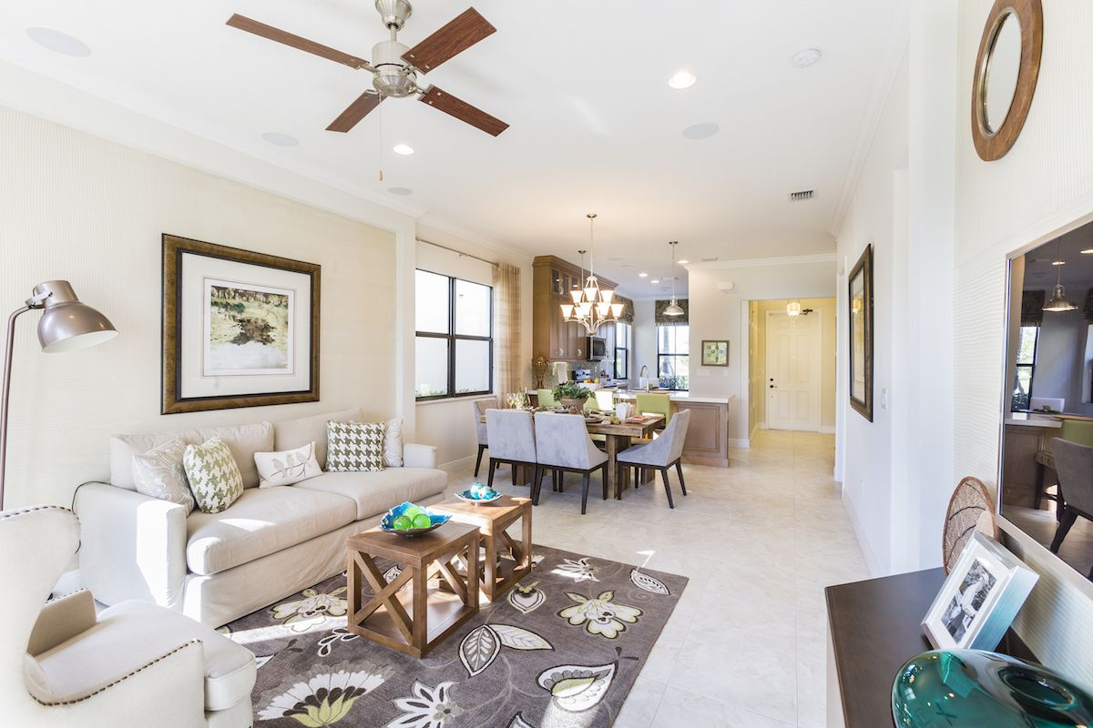 Living Area featured in the Encinitas of Silverwood Collection By CC Homes in Naples, FL