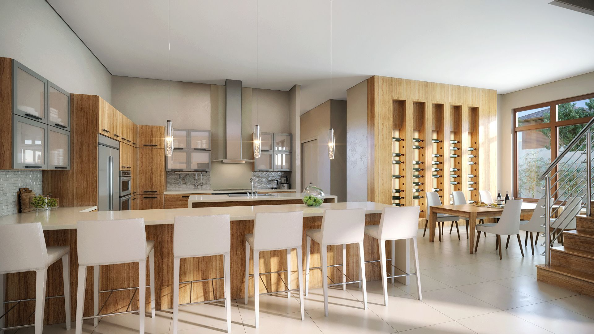 Kitchen featured in the Model B - Two Story By CC Homes in Miami-Dade County, FL