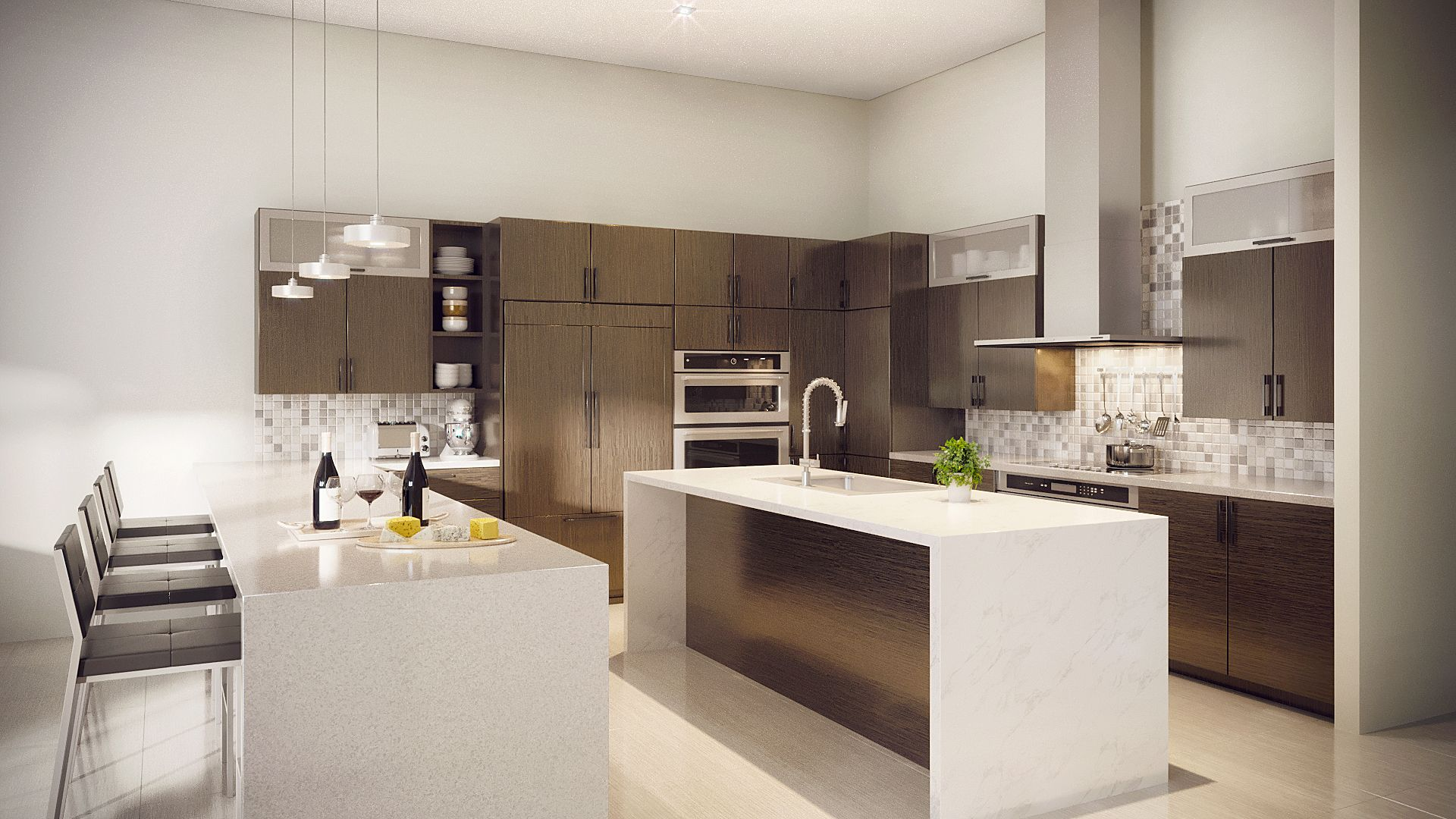 Kitchen featured in the Model C - Two Story By CC Homes in Miami-Dade County, FL