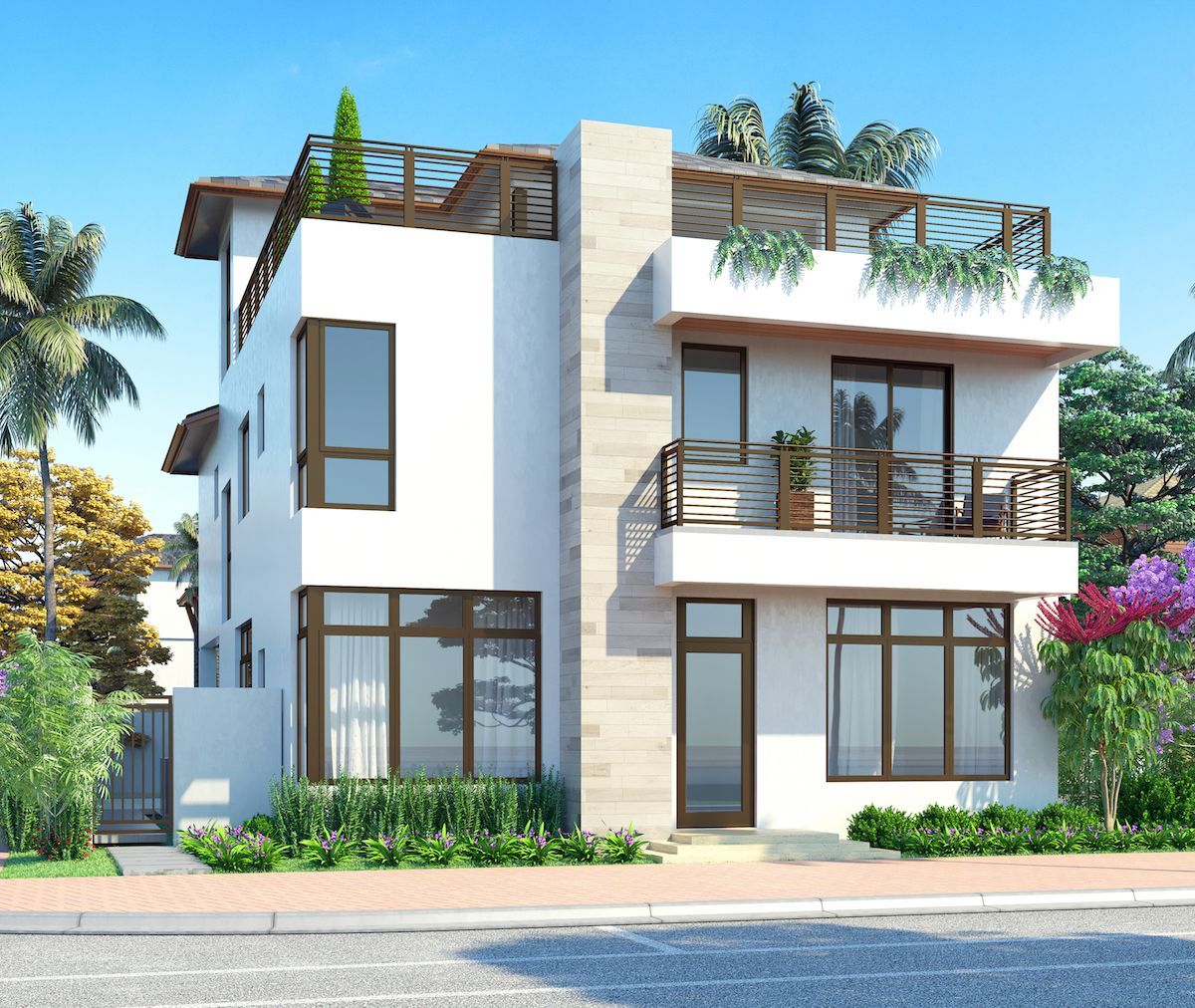 Exterior featured in the Model B - Three Story By CC Homes in Miami-Dade County, FL
