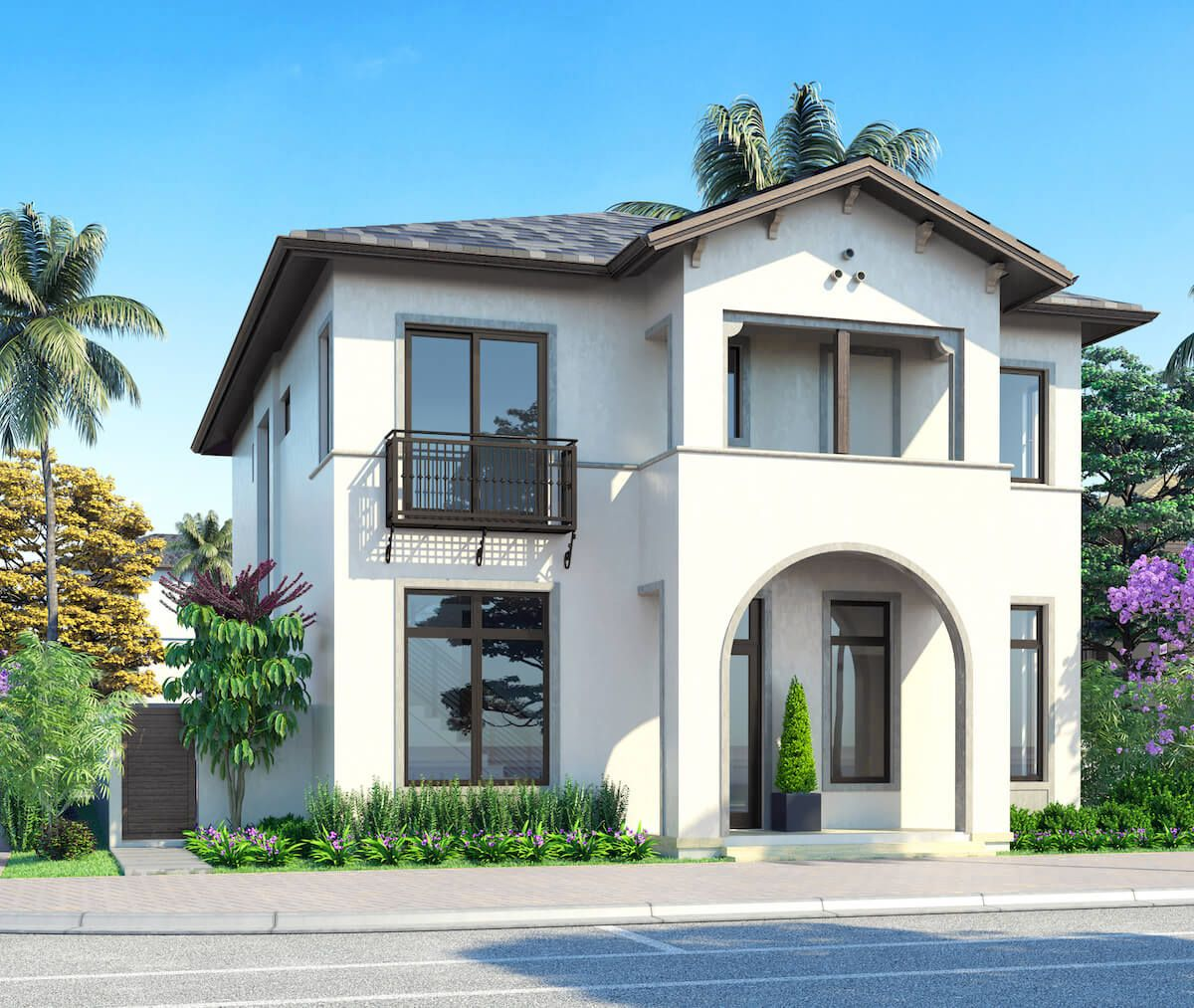 Exterior featured in the Model A - Two-Story By CC Homes in Miami-Dade County, FL