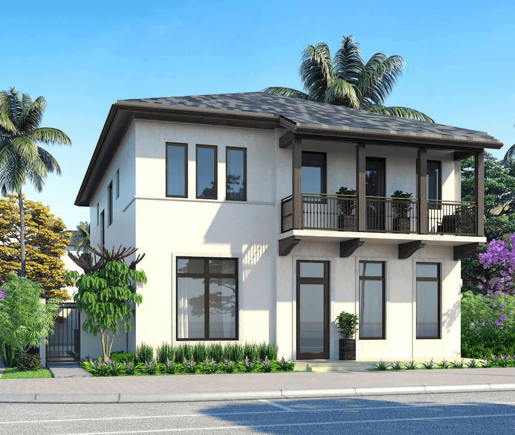 Exterior featured in the Model C - Two Story By CC Homes in Miami-Dade County, FL