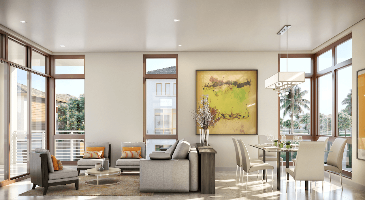 Living Area featured in the Ibiza D By CC Homes in Miami-Dade County, FL