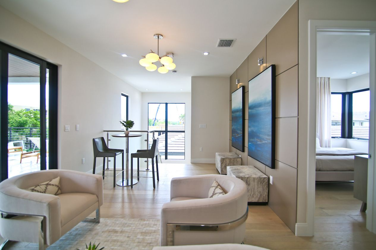 Living Area featured in the Model A - Three Story By CC Homes in Miami-Dade County, FL