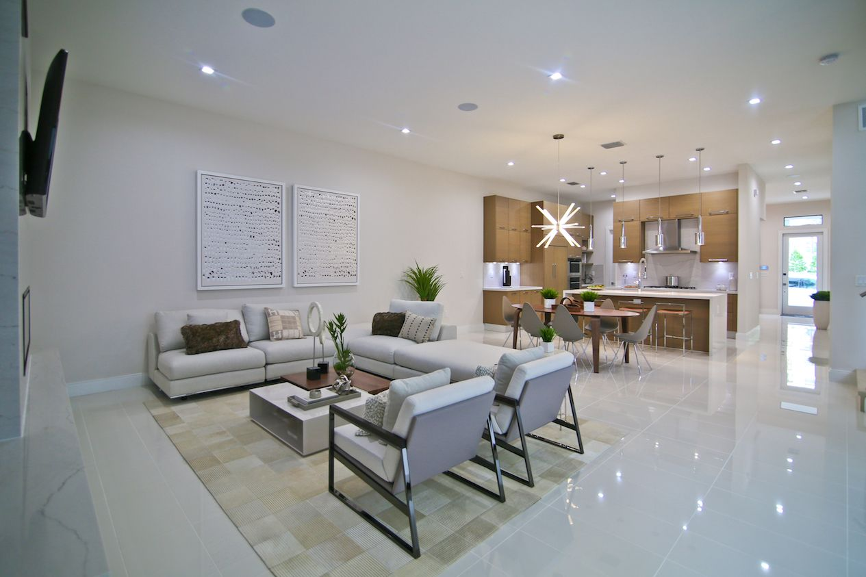 Living Area featured in the Model B - Three Story By CC Homes in Miami-Dade County, FL
