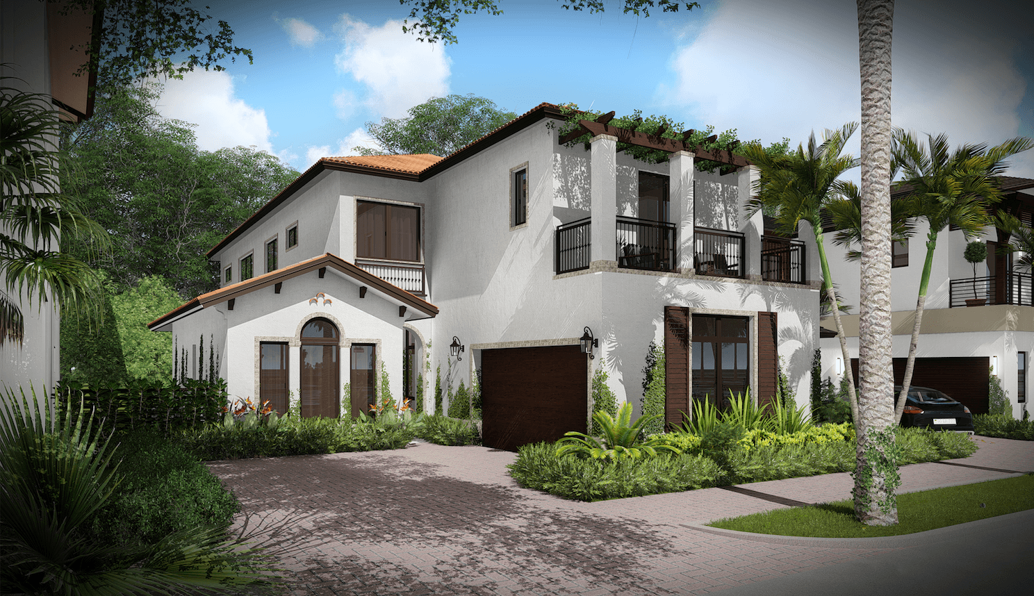 Exterior featured in the Capri C Two Story By CC Homes in Miami-Dade County, FL