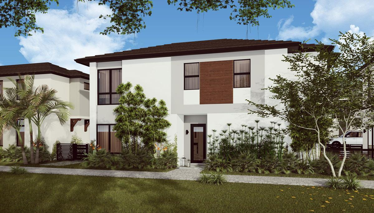 Exterior featured in the Ibiza F By CC Homes in Miami-Dade County, FL