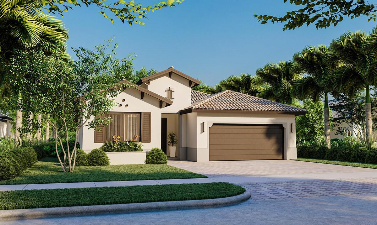 Exterior featured in the Fairmont By CC Homes in Naples, FL