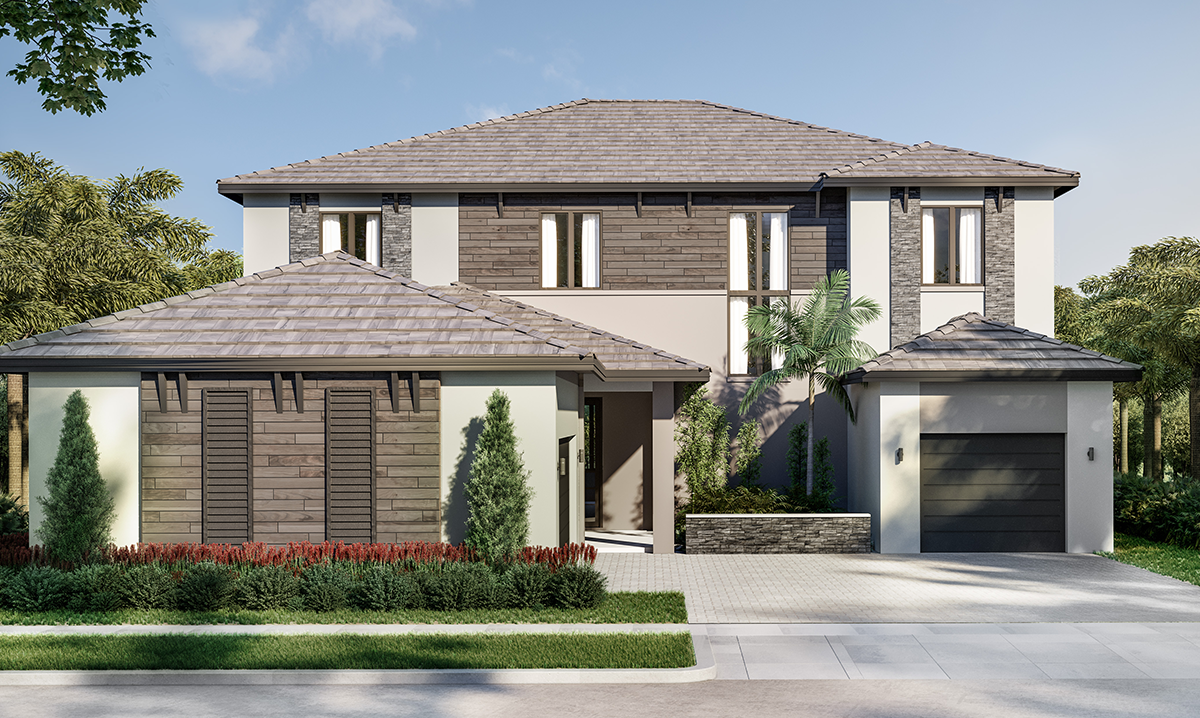 Exterior featured in the Inlet By CC Homes in Naples, FL