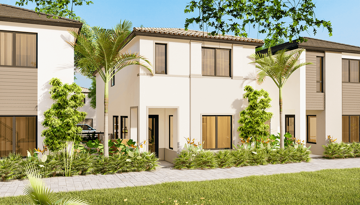 Exterior featured in the Las Palmas A By CC Homes in Miami-Dade County, FL