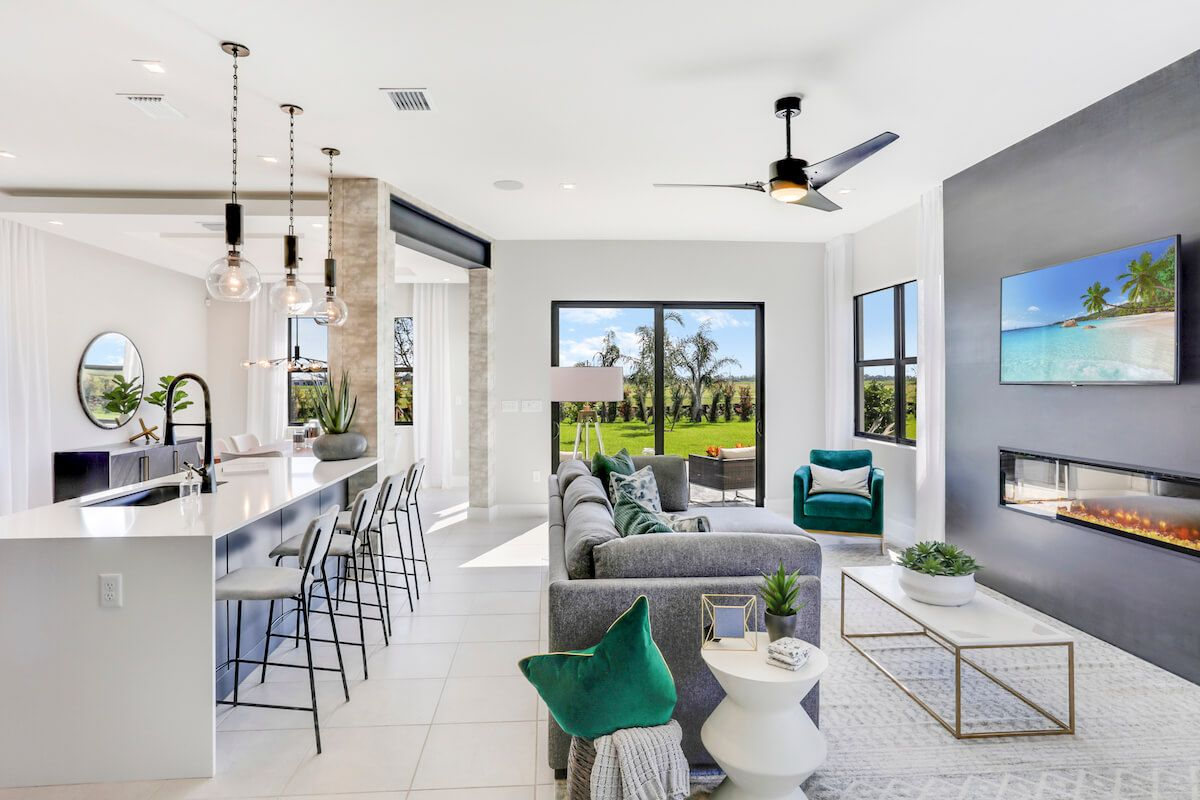 Living Area featured in the Balboa of Silverwood Collection By CC Homes in Naples, FL