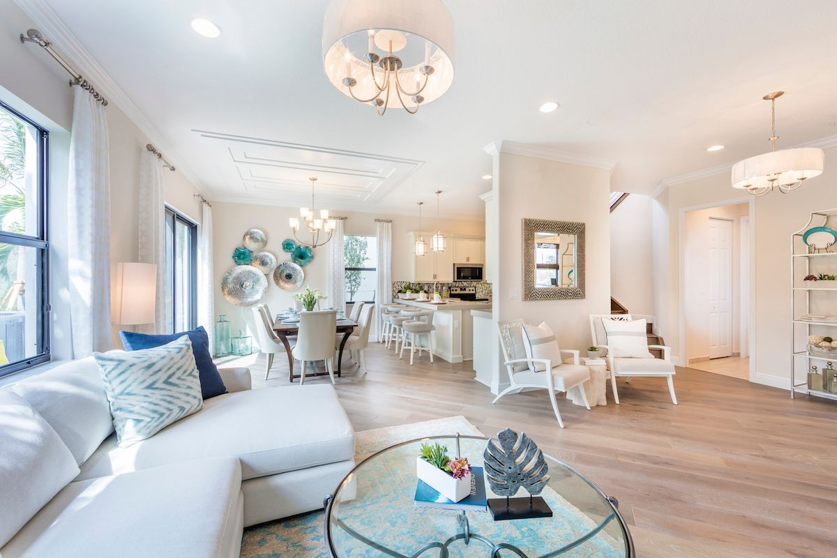 Living Area featured in the Doheny of Silverwood Collection By CC Homes in Naples, FL