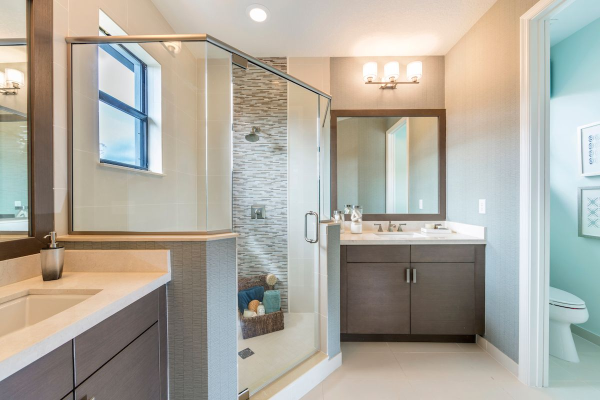 Bathroom featured in the Doheny of Silverwood Collection By CC Homes in Naples, FL