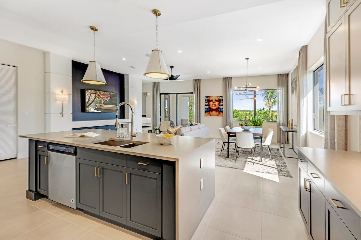 Kitchen featured in the Fairmont By CC Homes in Naples, FL