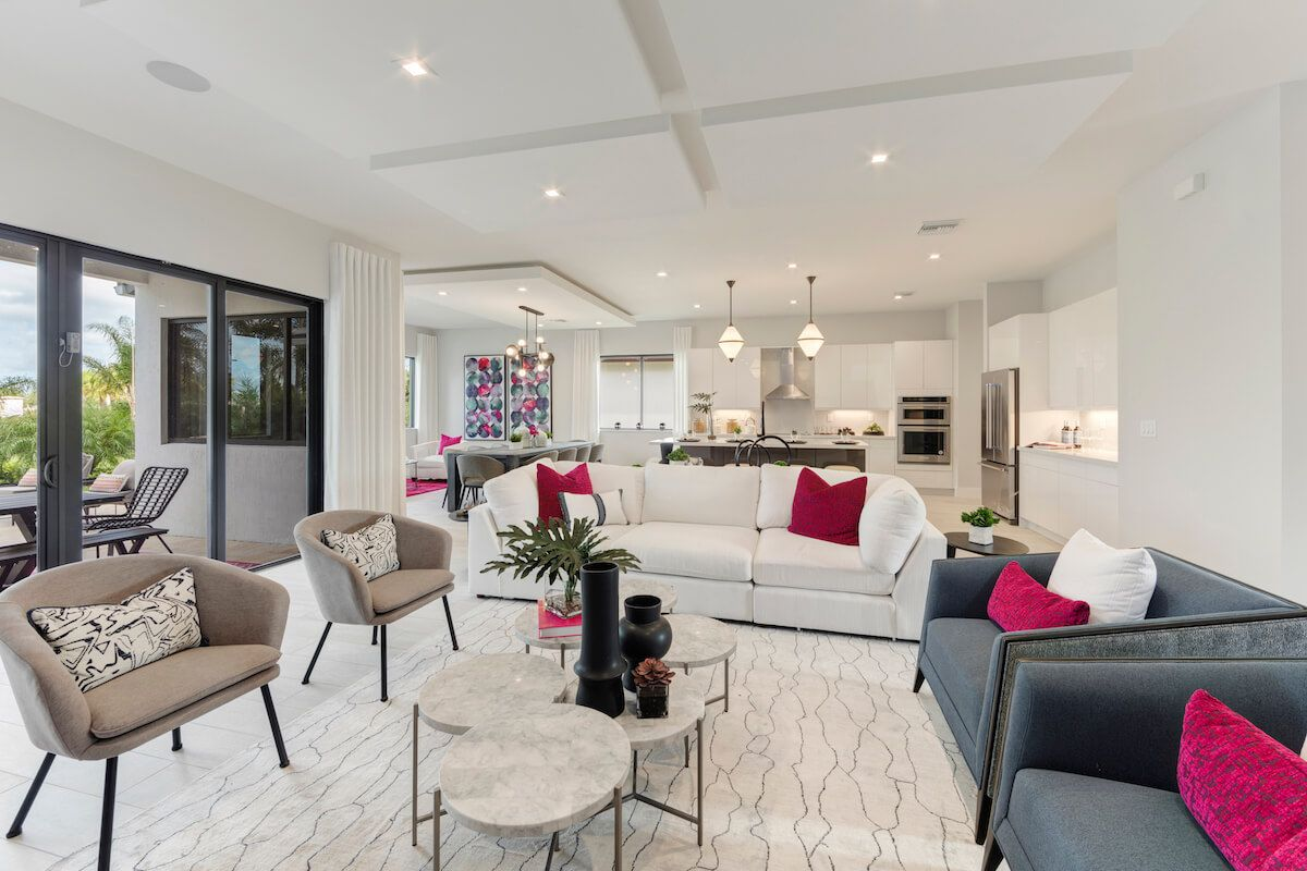 Living Area featured in the Harbour By CC Homes in Naples, FL