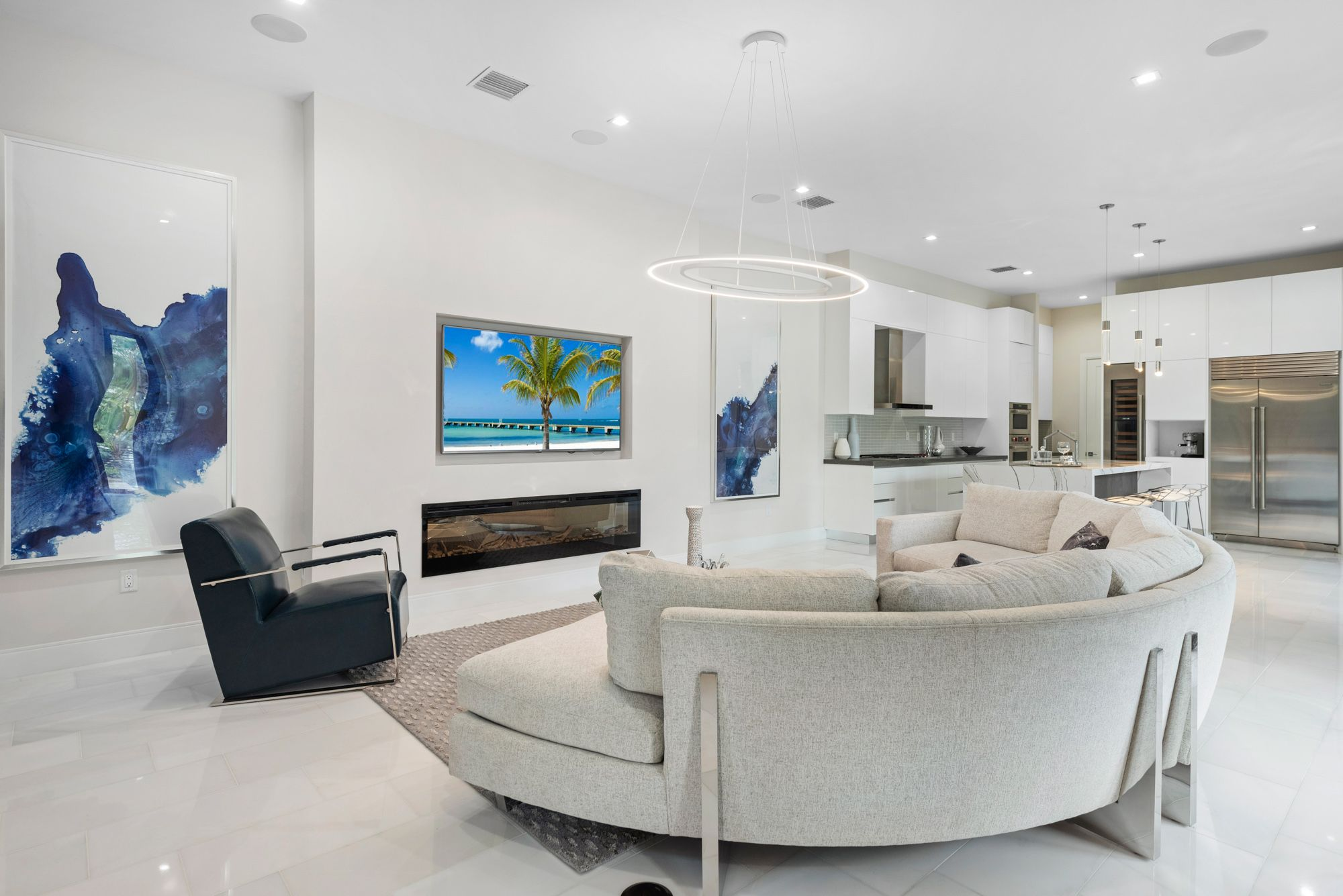 Living Area featured in the Capri A Three Story By CC Homes in Miami-Dade County, FL