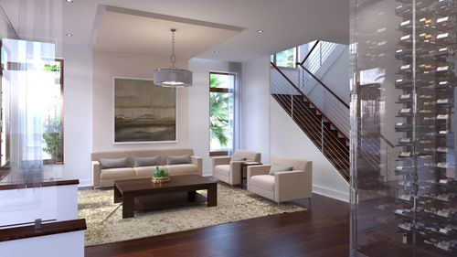 Greatroom-in-Model A - Two-Story-at-Canarias at Downtown Doral-in-Miami