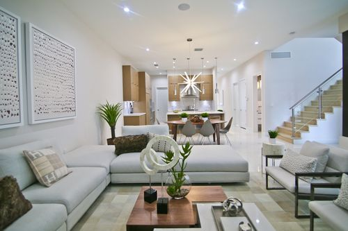 Greatroom-and-Dining-in-Model C - Three Story-at-Canarias at Downtown Doral-in-Miami