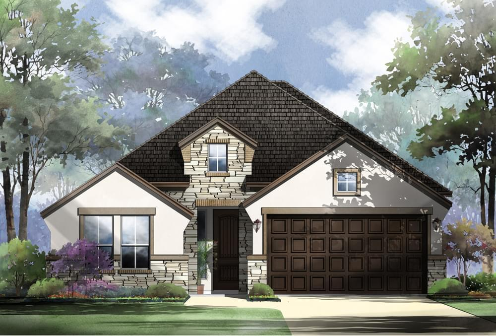 Exterior featured in the Mason : 50-2231F.1 By Monticello Homes in San Antonio, TX